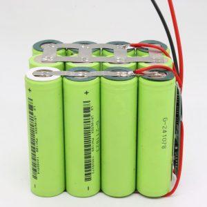 Hulgimüük kohandatud 18650 liitium 4s3p veekindel trükkplaadi sügavtsükliline aku 12v 10AH elektritööriista jaoks