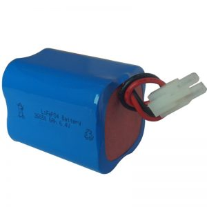lifepo4 solar light battery 6.4v 6ah 2S2P portable